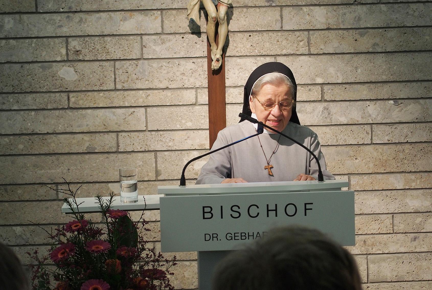 Rede Von Sr. M. Sigmunda Beim Festakt