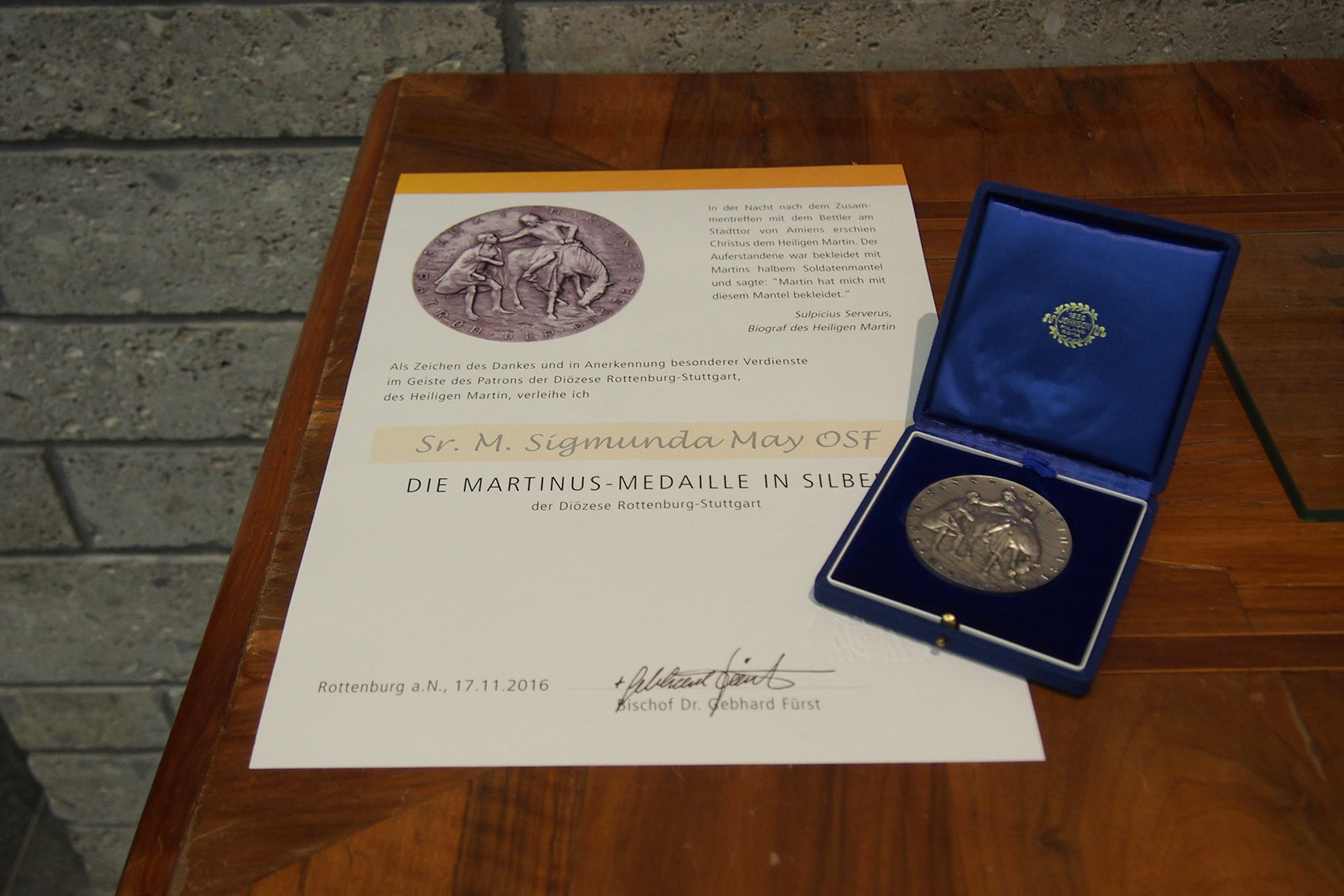 Martinusmedaille In Silber